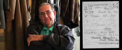 Tony Villanueva, elkarrizketa egunean. Eusko Jaurlaritzak Idaho-n zuen kontaktua zen Jose Villanuevaren semea da Tony. Boise-tik Emmett-era joan ziren, 1936.ean, Boise Payette enpresak hainbat euskal langile mugiarazi zituenean (Argazkiak: DACRP)
