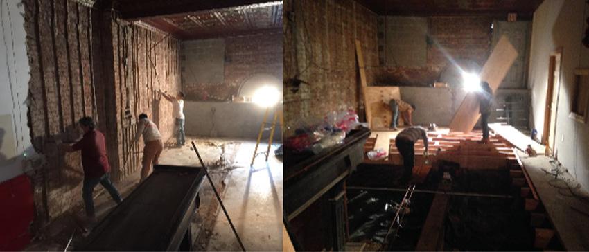 Photos of the renovation of the Euskal Etxea in New York (photosNYEE)