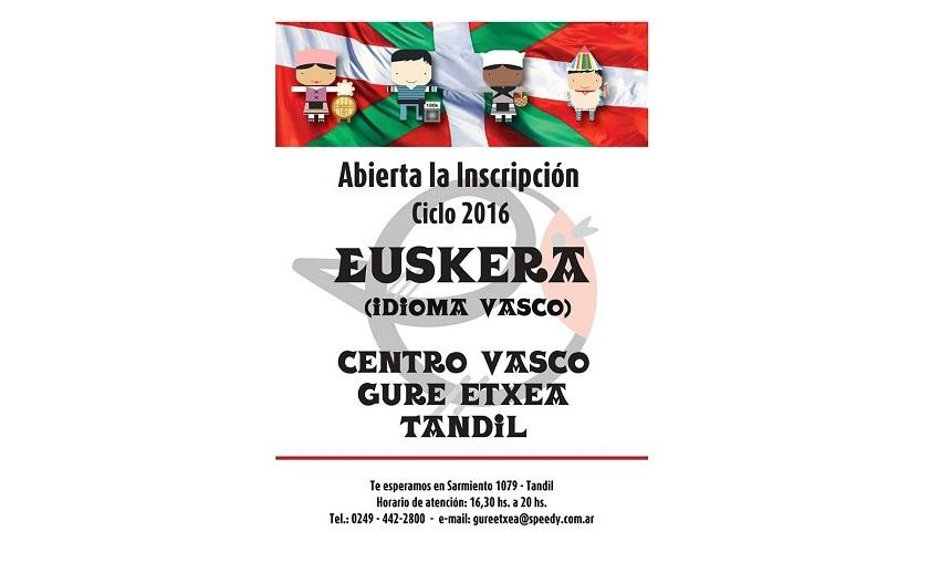Tandilgo Euskal Etxearen euskara eskolak