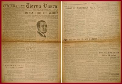 Christmas messages from Agirre in the Basque press in Buenos Aires