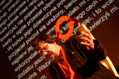 El escritor Iban Zaldua, en un festival literario en Wroclaw, Polonia (foto Etxepare.eus)