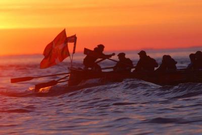 Indianoak espedizioko arraunlariak aurreko bidaian (argazkia Indianoak)