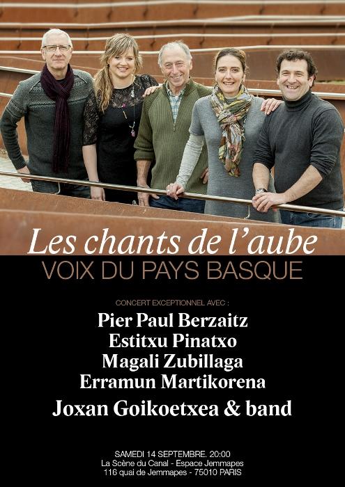 Euskal musika Parisen: Egusentiko kantuak