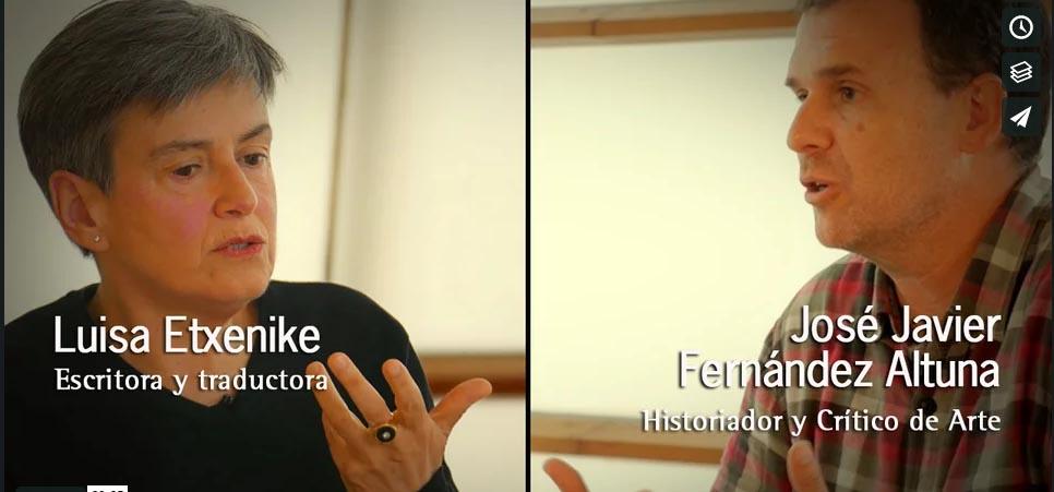 Eusko Ikaskuntzako Solasaldiak: Luisa Etxenike y José Javier Fernández Altuna