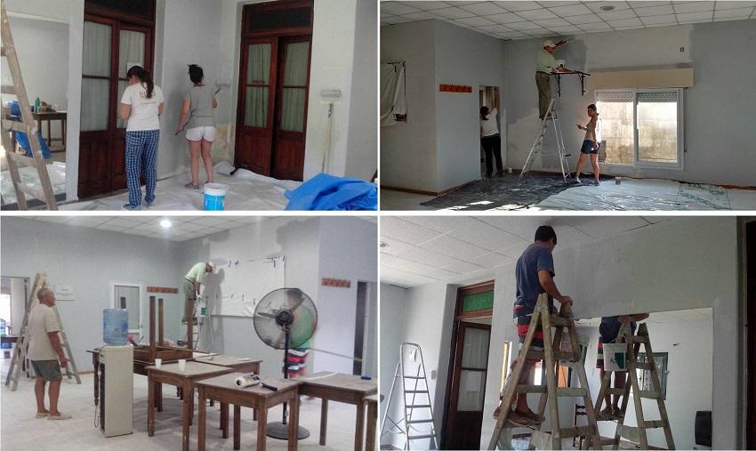 Auzolan (trabajo comunitario) en el Centro Euskal Sustraiak de Trenque lauquen