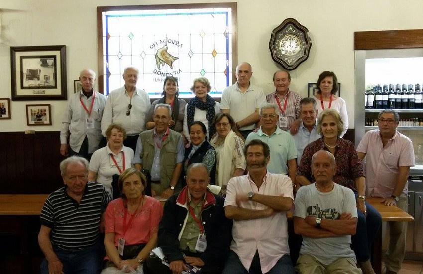 Participantes de uno de los anteriores viajes a Euskal Herria de la Fundación Juan de Garay