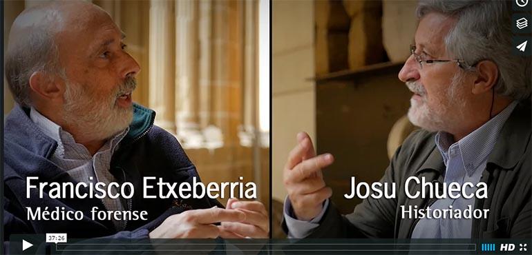 Eusko Ikaskuntzako Solasaldiak: Francisco Etxeberria y Josu Chueca