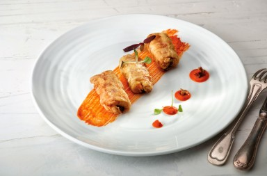 espárragos blancos rellenos, receta de Martín Berasategui, xlsemanal