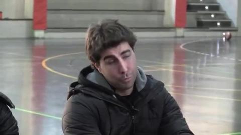 Carles Duran y su cuerpo técnico visitan el Campus Seguros Bilbao