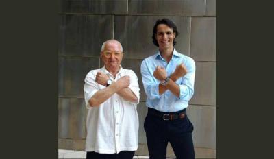 Juan Mari Arzak Igor Yebrarekin Madrilgo El País-ko Smodak duela gutxi argitara emaniko erreportaje batean (arg. Gianfranco Tripodo)