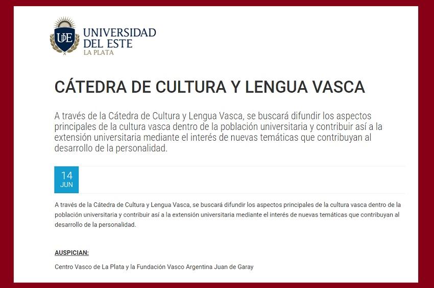 UDEko Euskara eta euskal kulturari buruzko katedraren aktibitateak ekainaren 14an hasiko dira