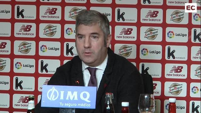 El presidente del Athletic, Josu Urrutia, comparece ante los medios: descarta adelantar las elecciones al verano y no desvela si se presentará
