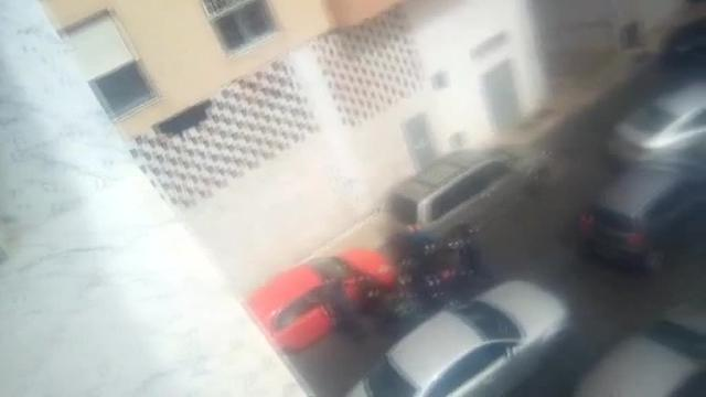 Momento de la detención de la novia del padre de Gabriel