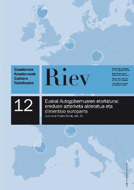RIEV. Cuadernos, 12. Euskal Autogobernuaren etorkizuna: ereduen azterketa alderatua eta dimentsio europarra