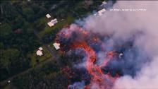 Los ríos de lava del volcán Kilauea (Hawái) obliga a desalojar mil setecientas viviendas