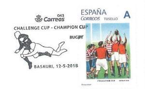 La filatélica de Basauri se suma a la fiesta del rugby con dos nuevos sellos