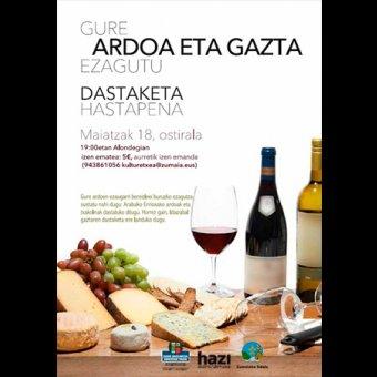Taller de cata de vinos y queso en Zumaia