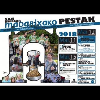 Programa de las Fiestas de San Isidro de Marixa 2018 en Azkoitia