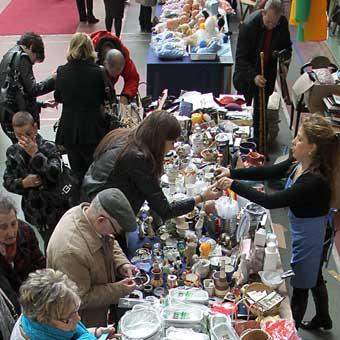Mercado dominical en Bilbao
