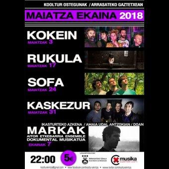 Jueves Kooltur: Concierto de SOFA en Arrasate/Mondragón