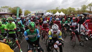 Salida desde Vitoria de la Vuelta al País Vascco