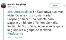 El reportero de guerra Antonio Pampliega tacha de «ignorante» a Torra por su concepto de crisis humanitaria