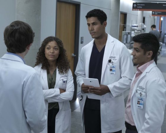 """THE GOOD DOCTOR - """"Mount Rushmore"""" - Dr. Shaun Murphy's attention to detail complicates his first day at St. Bonaventure Hospital. Meanwhile, Dr. Claire Browne learns a valuable lesson about honesty when confronted with a difficult diagnosis for her patient. """"The Good Doctor"""" airs MONDAY, OCTOBER 2 (10:01-11:00 p.m. EDT), on The ABC Television Network. (ABC/Eike Schroter) ANTONIA THOMAS, CHUKU MODU, NICHOLAS GONZALEZ"""