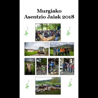 Murgiako Asentzio Jaien Egitaraua 2018 en Oñati