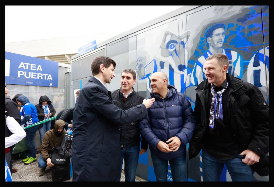 Inaugurado el nuevo mural albiazul
