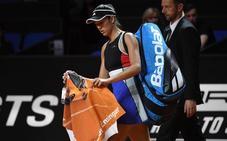Muguruza abandona por lesión ante Pavlyuchenkova