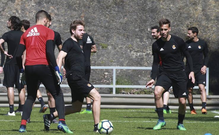 La Real entrena de cara al partido contra el Leganés