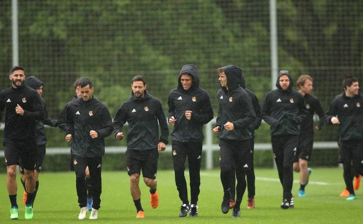 La Real Sociedad ultima los detalles para el duelo ante el Sevilla
