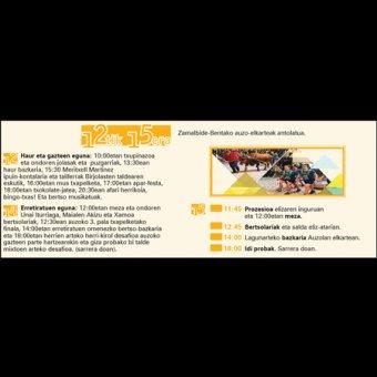 Programa de Fiestas de San Isidro en Zamalbide-Bentas 2018 en Errenteria