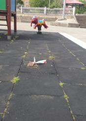 Parque roto en Errenteria