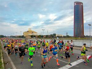 Maratón Sevilla 2019, preparando el camino