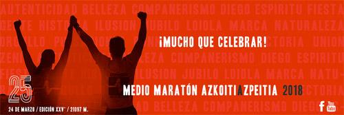 Media Maratón Azkoitia Azpeitia 2018 Memorial Diego García
