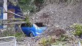 Derrumbamiento de parte de una ladera en Bakio