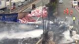 Diez heridos tras un grave accidente entre un camión y un autobús en Villabona