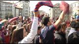 Los aficionados calientan motores para las semifinales de la Copa del Rey