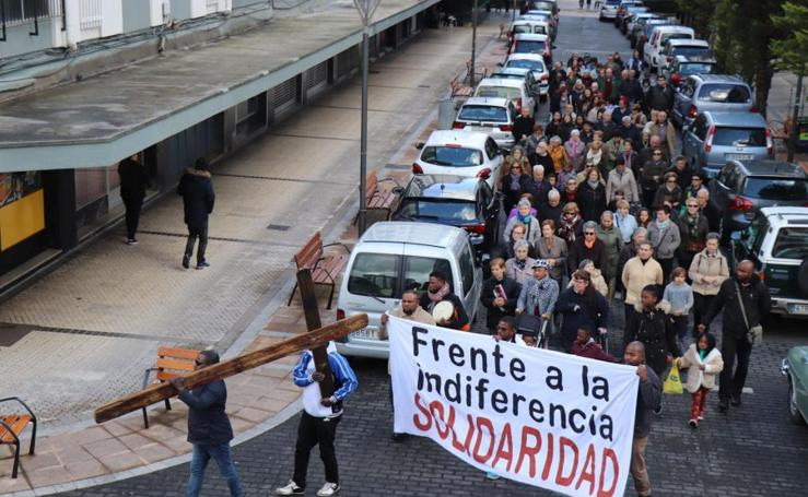 La cruz de Lampedusa llega a Lasarte-Oria