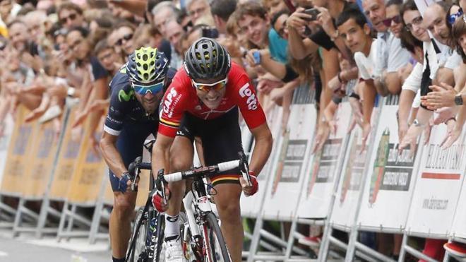 Valverde sube al quinto puesto del World Tour y Movistar, más líder por equipos