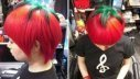 Nuevo peinado, el tomate maduro