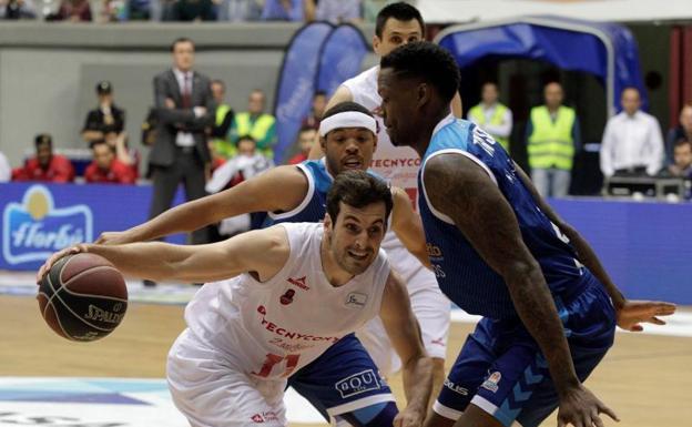 Una imagen del partido disputado en Burgos./E. C.