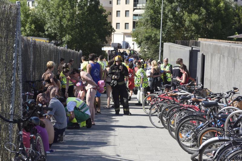 104 intoxicados y 23 traslados al hospital por un escape tóxico en un polideportivo de Tolosa