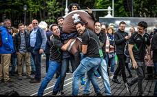 La fiesta del rugby en Bilbao, en imágenes