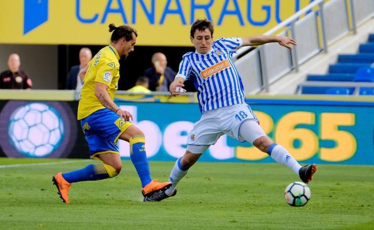 Las mejores imágenes del partido Las Palmas - Real Sociedad