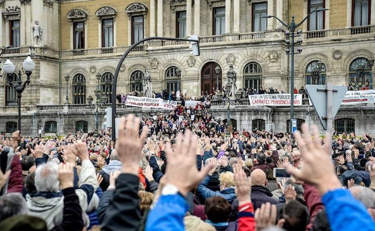 Los lunes son para los pensionistas en Bilbao