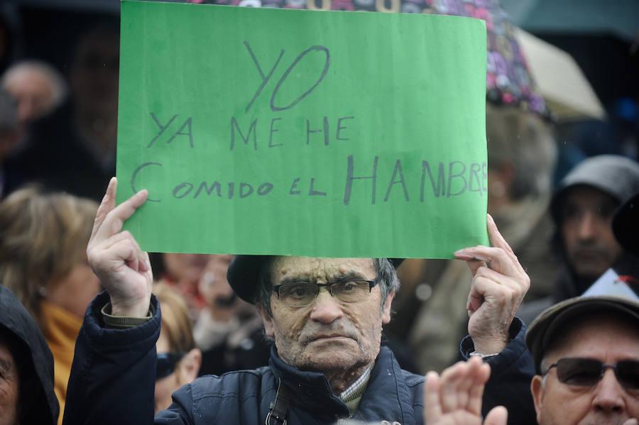 Nueva manifestación de los pensionistas en Bilbao