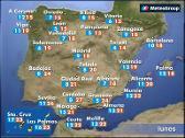 Previsión del tiempo para este lunes 14 de mayo