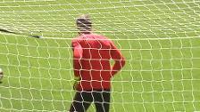 El Atlético de Madrid se entrena en el Wanda antes de viajar a Lyon